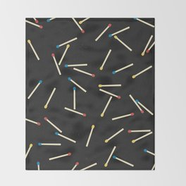 Matchsticks Throw Blanket