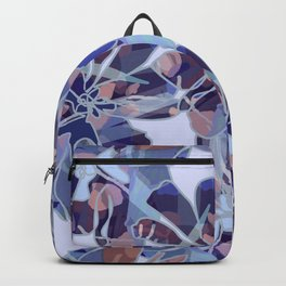 Blue Batik Floral Backpack