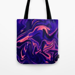 Abstract Marble Colorful Pattern Neon Coral Living Ultra Violet Blue Colors Tote Bag