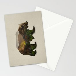 North American Brown Bear Stationery Cards