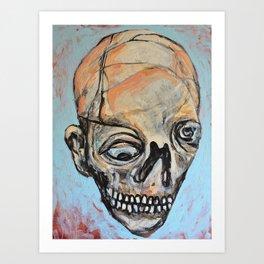 Space Face Art Print