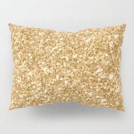 Trendy Gold Glitter Texture Print Pillow Sham