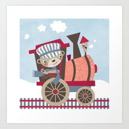 Train Ride Art Print