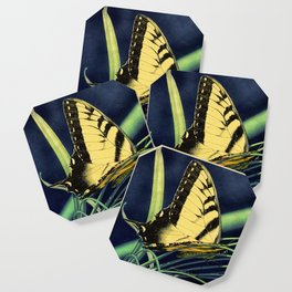 Yellow Tiger Swallowtail Butterfly A125 Coaster