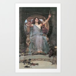 Circe Offering the Cup to Ulysses, John William Waterhouse Art Print