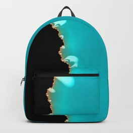 Creeping Teal with a Gold Edge Backpack