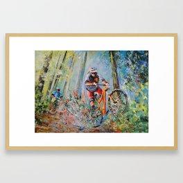 Mountain Biking 01 Framed Art Print