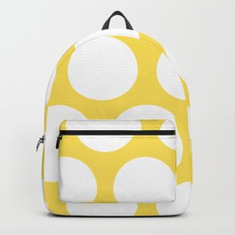 Large Polka Dots: Yellow Backpack