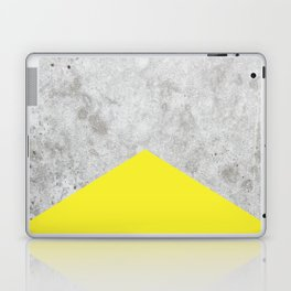 Concrete Arrow Yellow #193 Laptop & iPad Skin