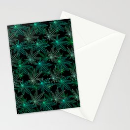 Cannabis Leaf (Black Glow) - Frost Stationery Cards