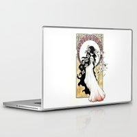 art nouveau Laptop & iPad Skins featuring Art Nouveau by Alexandra Banti