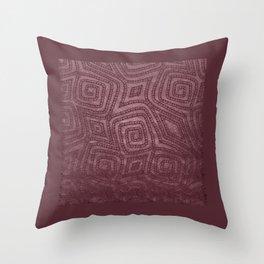Burgundy Spiral Diamond Pattern Throw Pillow