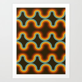 Retro Lines Art Print