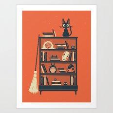 Ghibli Shelf // Miyazaki Art Print