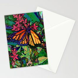 Monarch in the Garden Stationery Cards