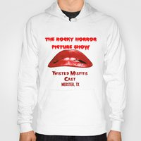 rocky horror picture show Hoodies featuring Rocky Horror Picture Show Cast TShirts by JackieJackal