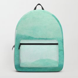 Ombre Waves in Teal Backpack