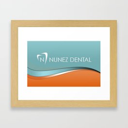 Nunez Dental Logo Framed Art Print