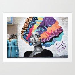 Love is color Art Print