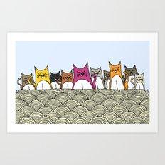 Cat Nation Art Print