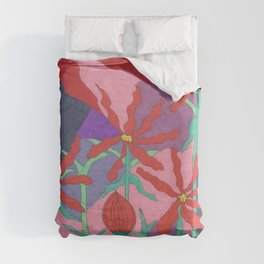 Summer Garden at Night Duvet Cover