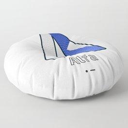 Alfa - Navy Code Floor Pillow