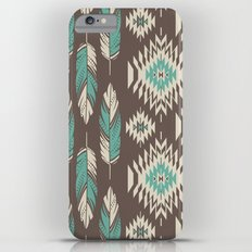 Native Roots - Turquoise & Brown iPhone 6 Plus Slim Case
