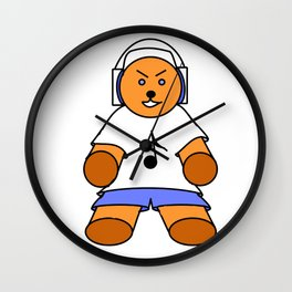 TEDDY BEAR LOVE MUSIC Wall Clock