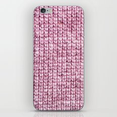 knitted pink iPhone Skin