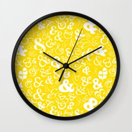 Ampersands - Yellow Wall Clock