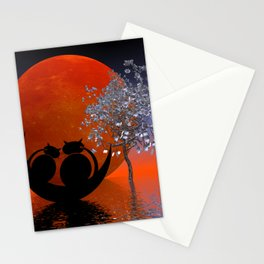 mooncat's evening dream Stationery Cards