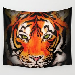 Tiger in the Shadows Wall Tapestry