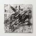 Breaking Loose - Charcoal on Newspaper Figure Drawing by torr