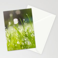 grassy morning Stationery Cards