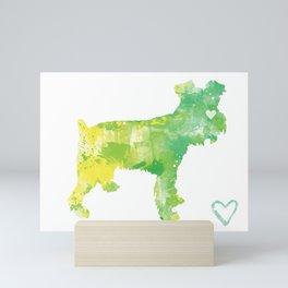 Schnauzer Silhouette Design Mini Art Print