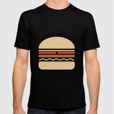 #62 Hamburger Black MEDIUM Mens Fitted Tee