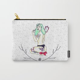 Pinup Modern Gothic Girl Carry-All Pouch