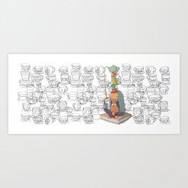 el equilibrio de las tazas Art Print