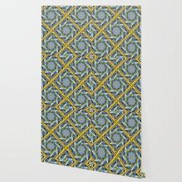 golden day kaleidoscope pattern Wallpaper