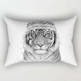 Siberian tiger (b&w) Rectangular Pillow