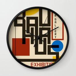 Bauhaus Poster I Wall Clock