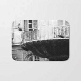 Pigeon in Motion-Aix en Provence Bath Mat
