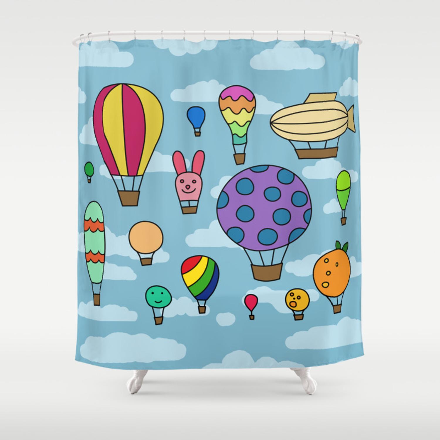 Hot Air Balloons Shower Curtain By