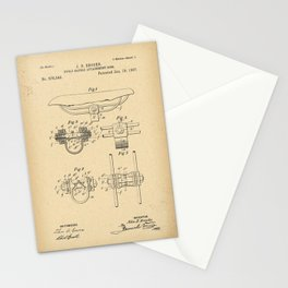1897 Patent Bicycle saddle Stationery Cards