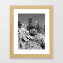 Hard Places Framed Art Print