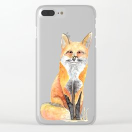 FOX AND BEE Clear iPhone Case