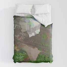 roundabout way home Comforters