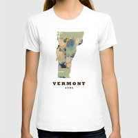 vermont T-shirts featuring Vermont state map by bri.buckley