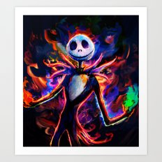 nightmare before christmas 2 Art Print
