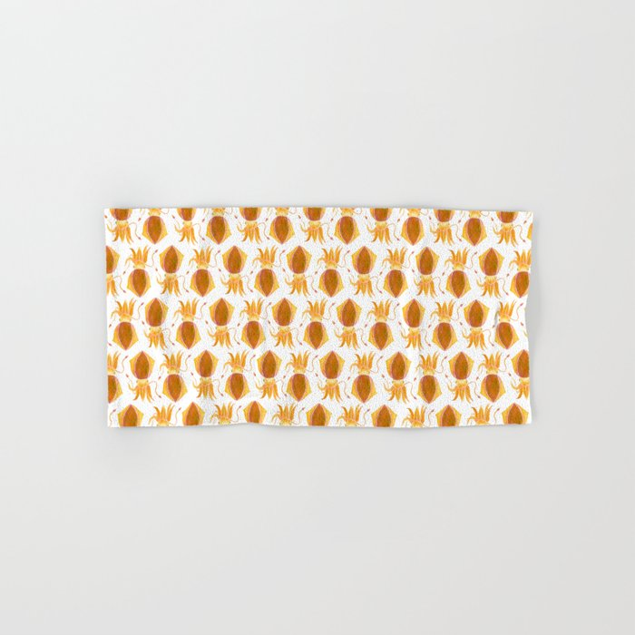 Cute Orange Squid Hand & Bath Towel